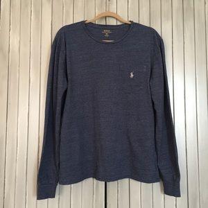 Polo Ralph Lauren Blue Long Sleeve t Shirt Medium